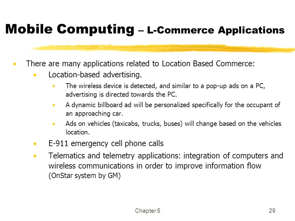Mobile Computing – L-Commerce Applications