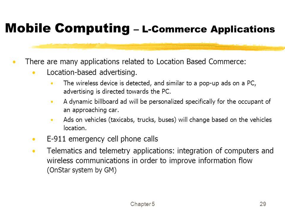 Mobile Computing – L-Commerce Applications