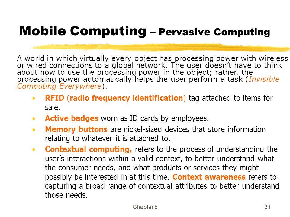 Mobile Computing – Pervasive Computing