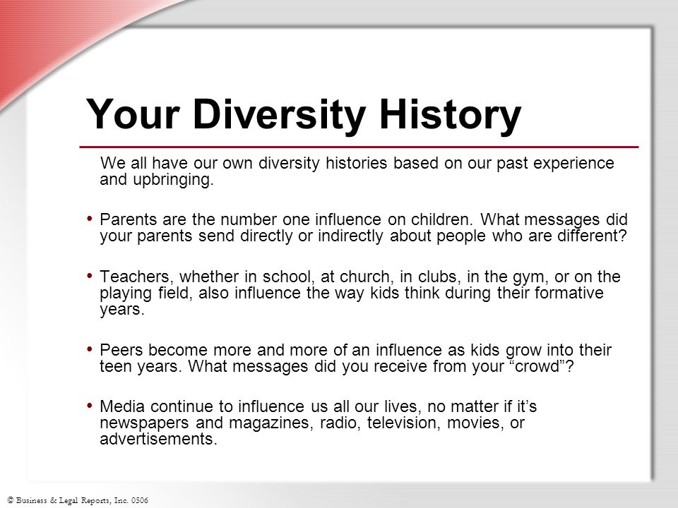 Your Diversity History