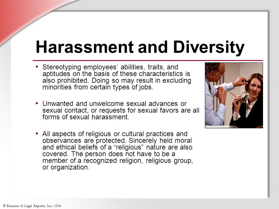 Harassment and Diversity