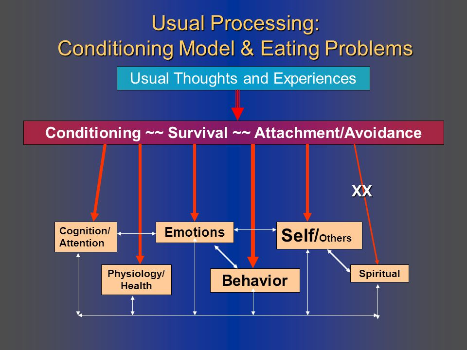Usual Processing: Conditioning Model & Eating Problems
