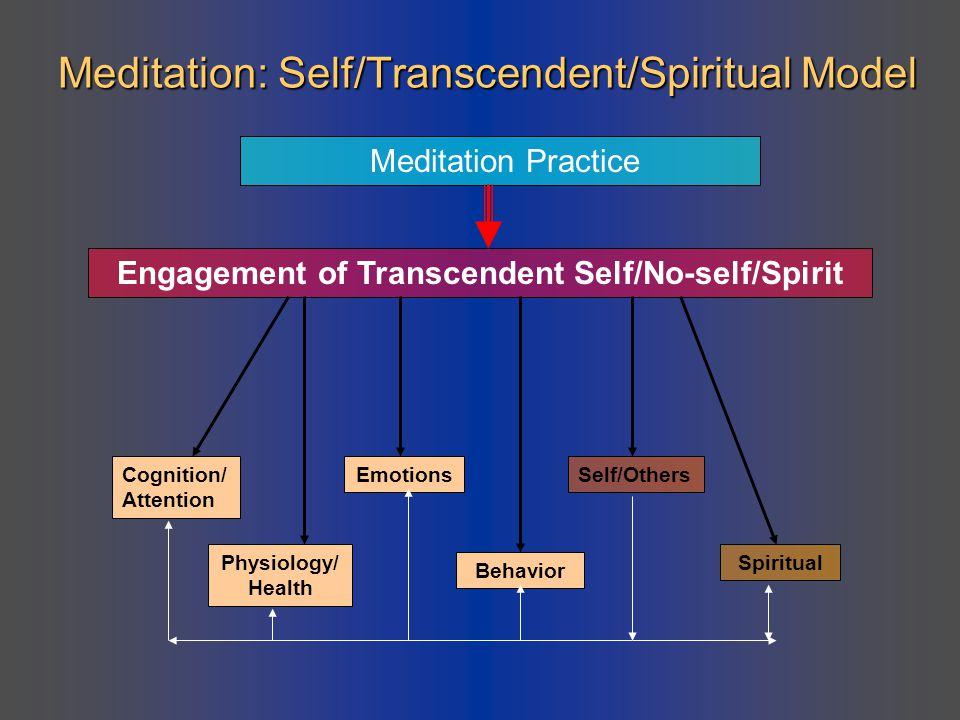 Meditation: Self/Transcendent/Spiritual Model