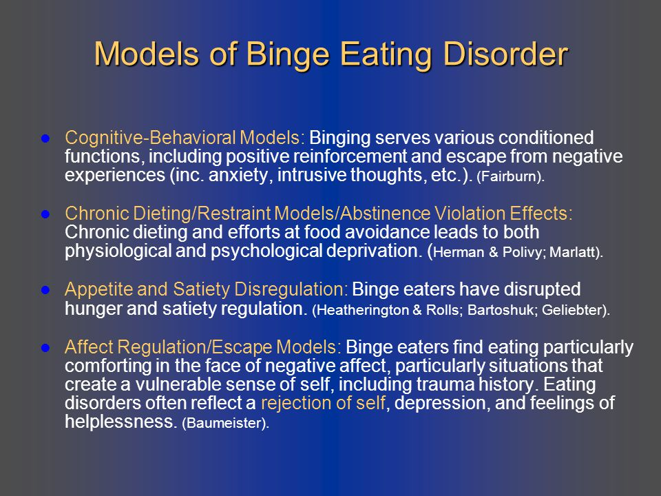 Models of Binge Eating Disorder