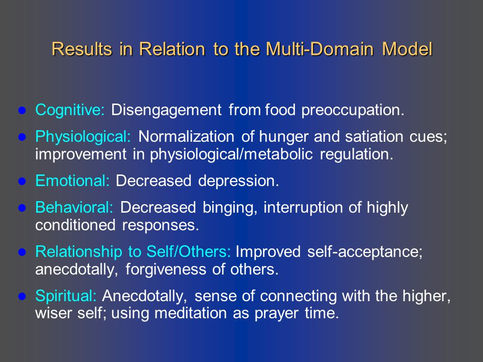Results in Relation to the Multi-Domain Model