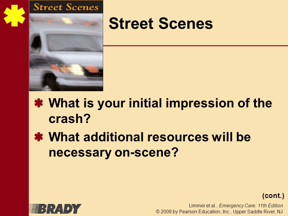 Street Scenes What is your initial impression of the crash