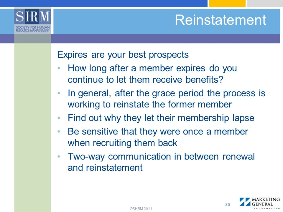Reinstatement Expires are your best prospects