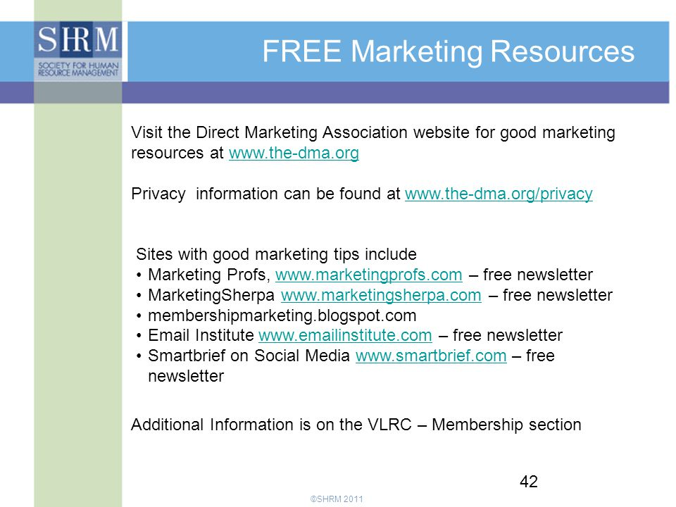 FREE Marketing Resources