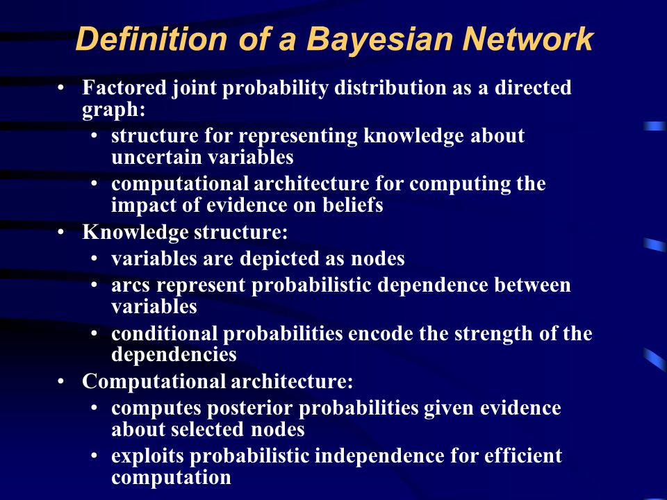Definition of a Bayesian Network