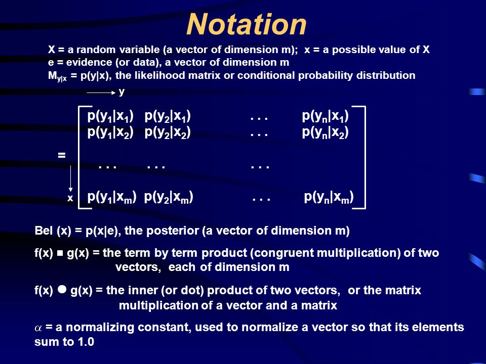 Notation p(y1|x1) p(y2|x1) . . . p(yn|x1)