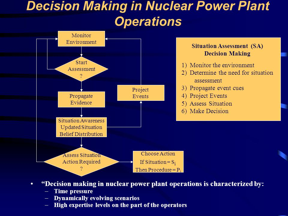 Decision Making in Nuclear Power Plant Operations
