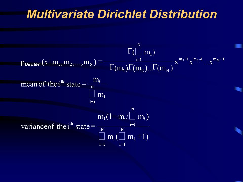 Multivariate Dirichlet Distribution