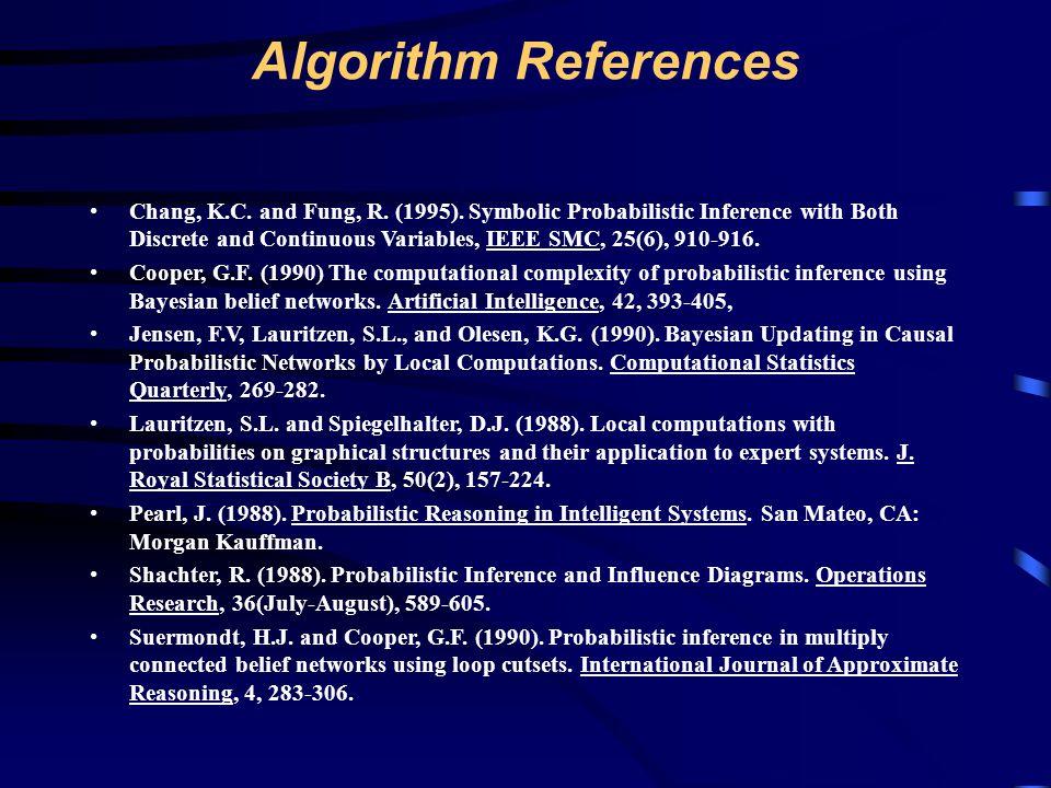Algorithm References