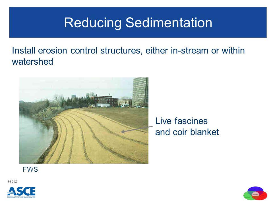 Reducing Sedimentation