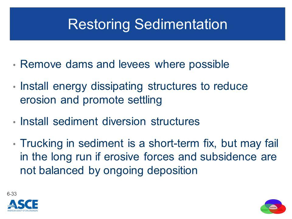 Restoring Sedimentation