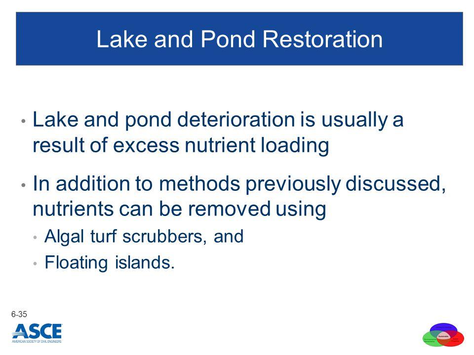 Lake and Pond Restoration