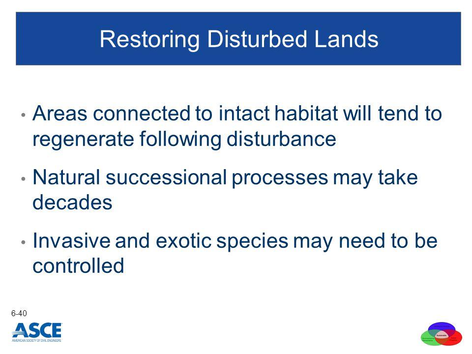 Restoring Disturbed Lands