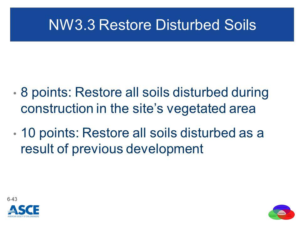 NW3.3 Restore Disturbed Soils