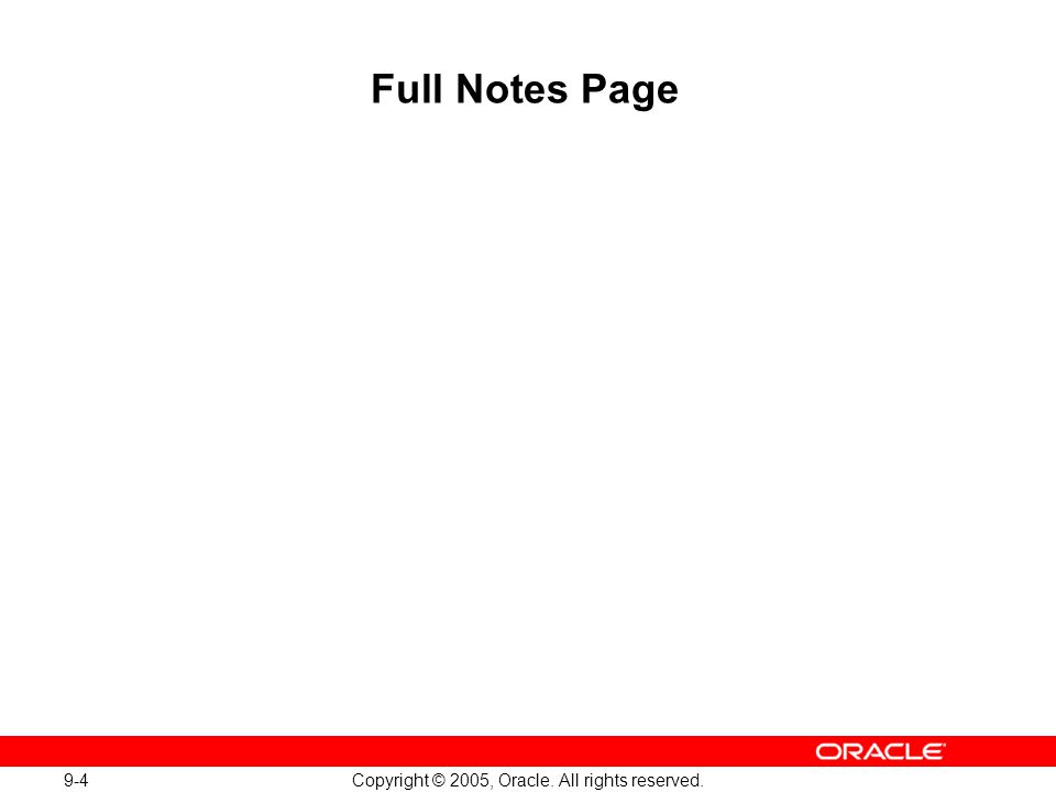 Oracle Database 10g: Implement and Administer a Data Warehouse 9-4