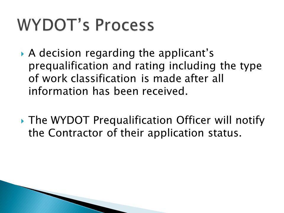 WYDOT's Process