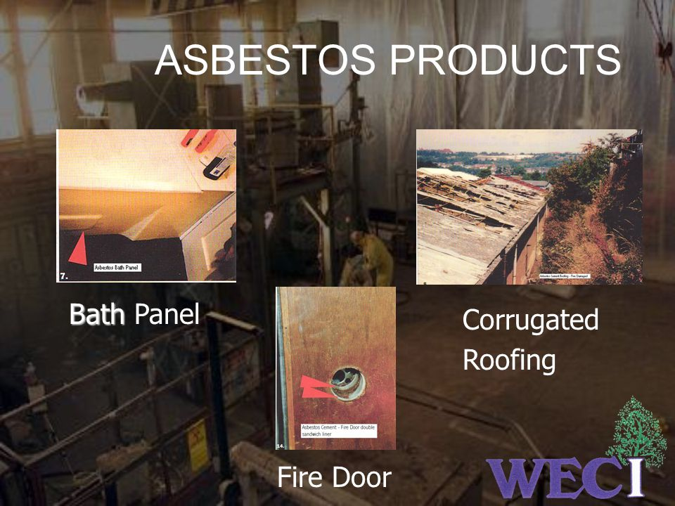 ASBESTOS PRODUCTS Bath Panel Corrugated Roofing Fire Door