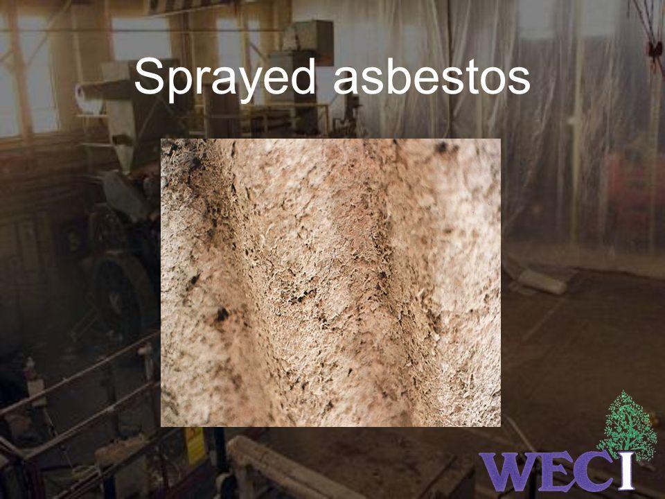 Sprayed asbestos