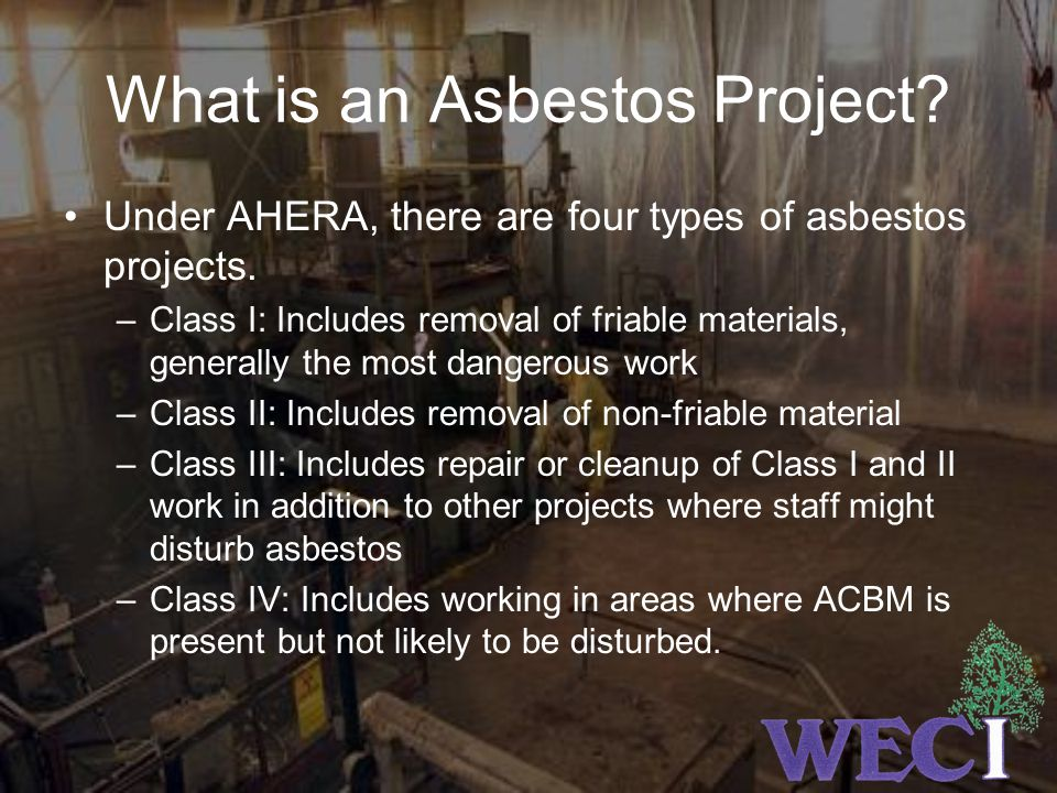 What is an Asbestos Project