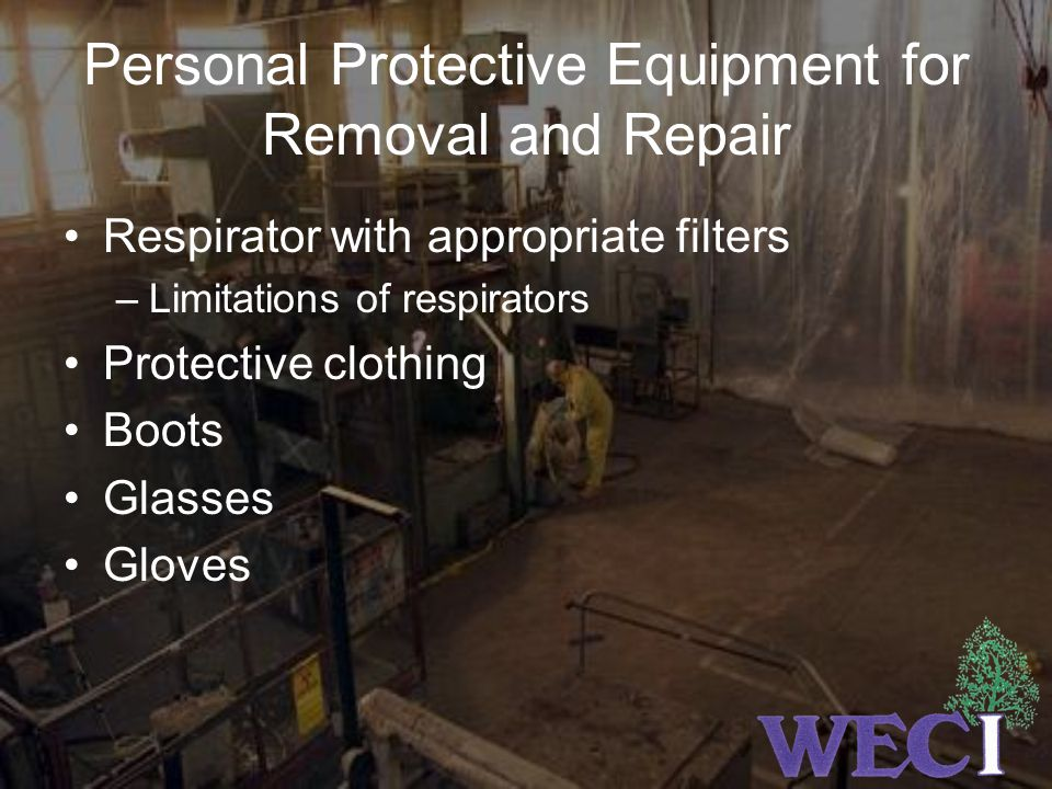 Personal Protective Equipment for Removal and Repair