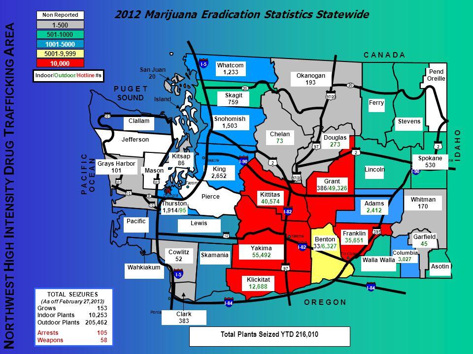 2012 Marijuana Eradication Statistics Statewide