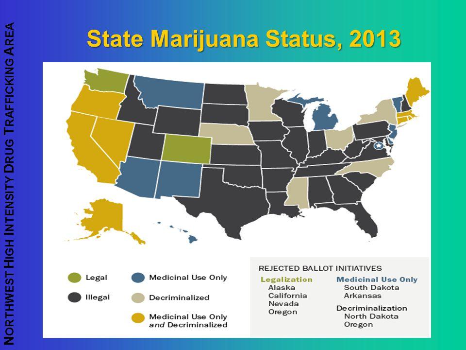 State Marijuana Status, 2013