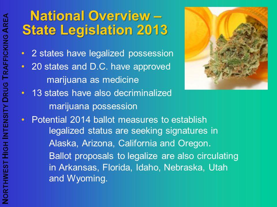 National Overview – State Legislation 2013