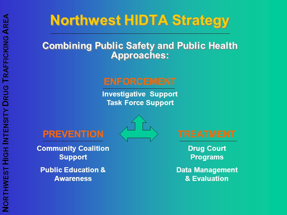 Northwest HIDTA Strategy Combining Public Safety and Public Health Approaches: