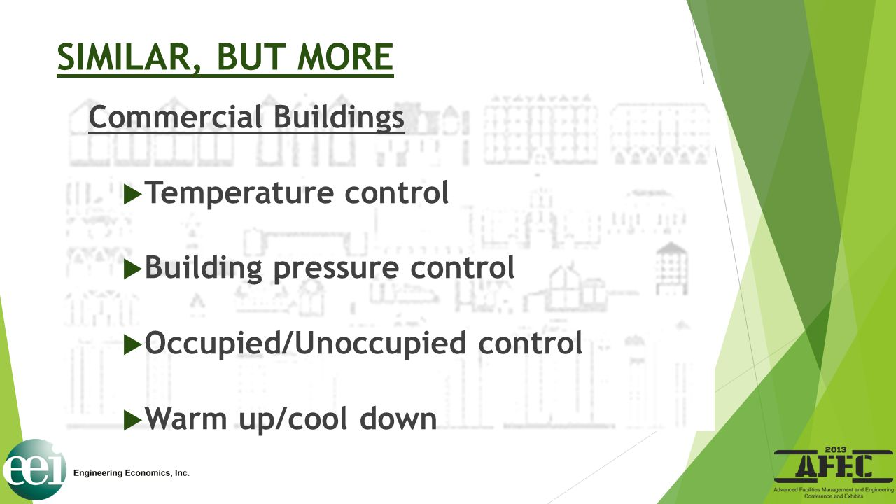 SIMILAR, BUT MORE Commercial Buildings Temperature control