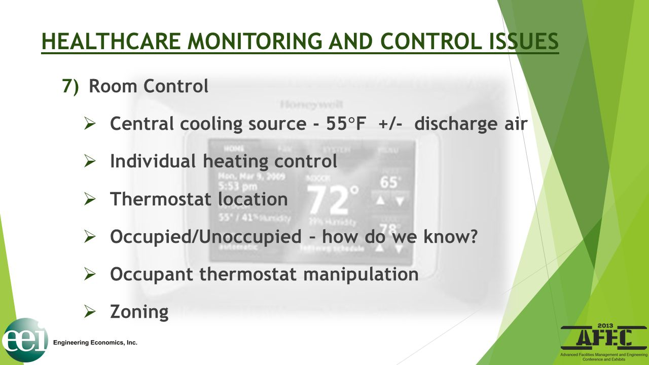 HEALTHCARE MONITORING AND CONTROL ISSUES