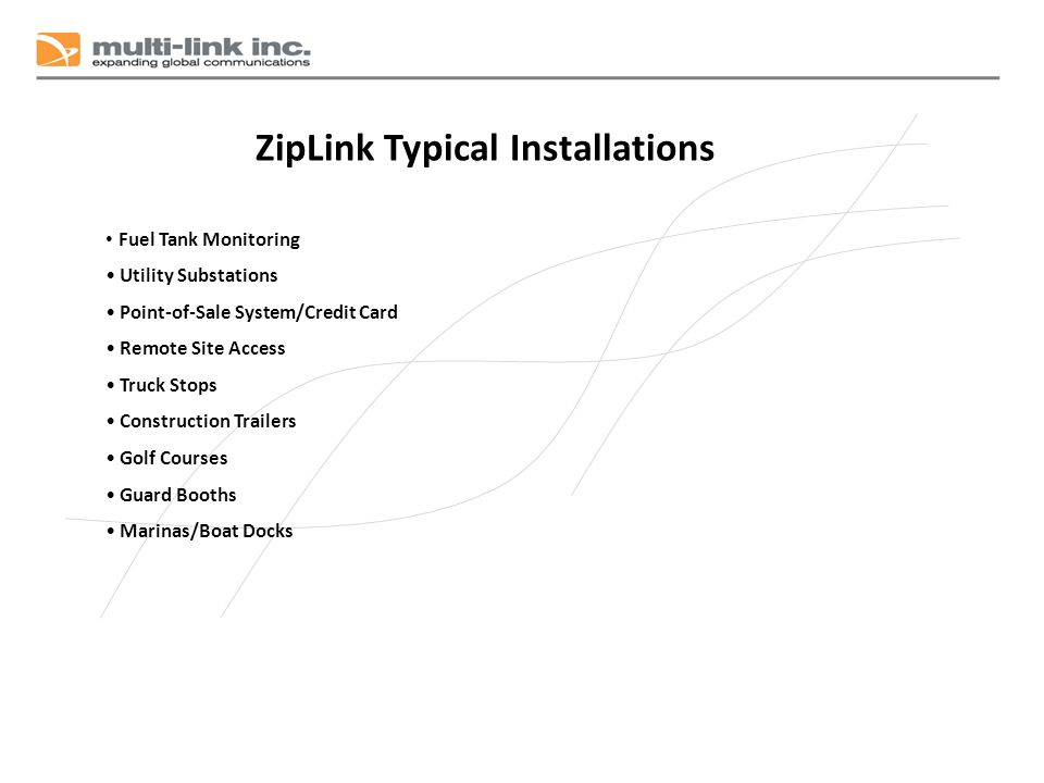 ZipLink Typical Installations