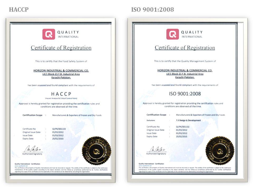 HACCP ISO 9001:2008