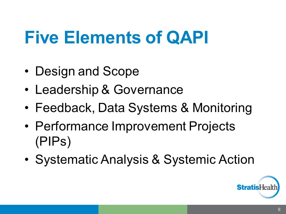 Lay a Solid Foundation Ask - What should QAPI look like in your organization Assess current QAPI readiness.