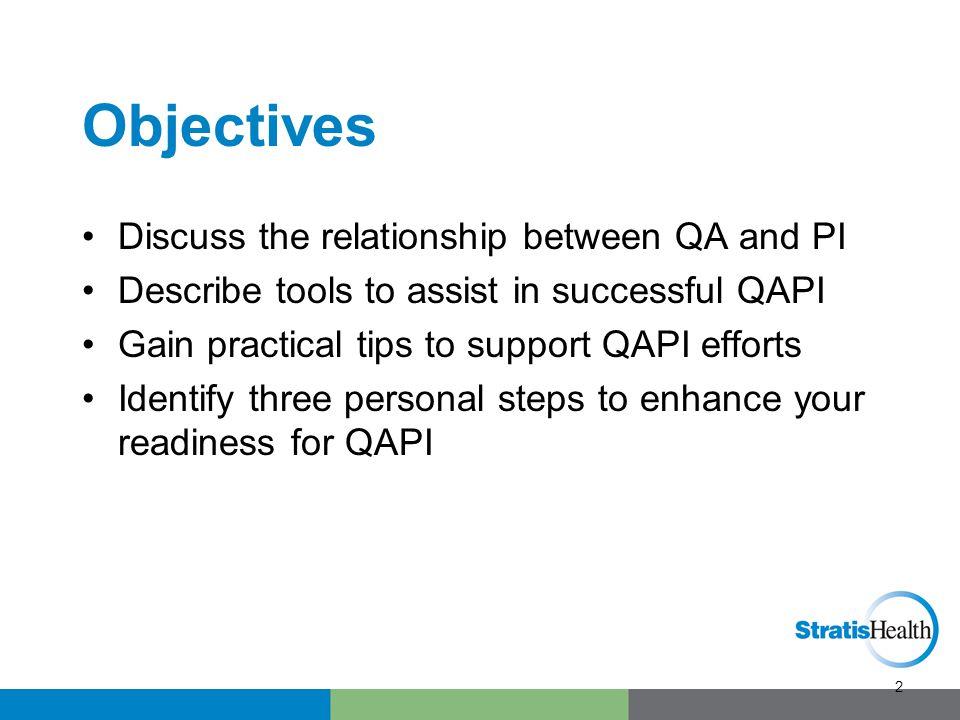 What is QAPI Quality Assurance + Performance Improvement