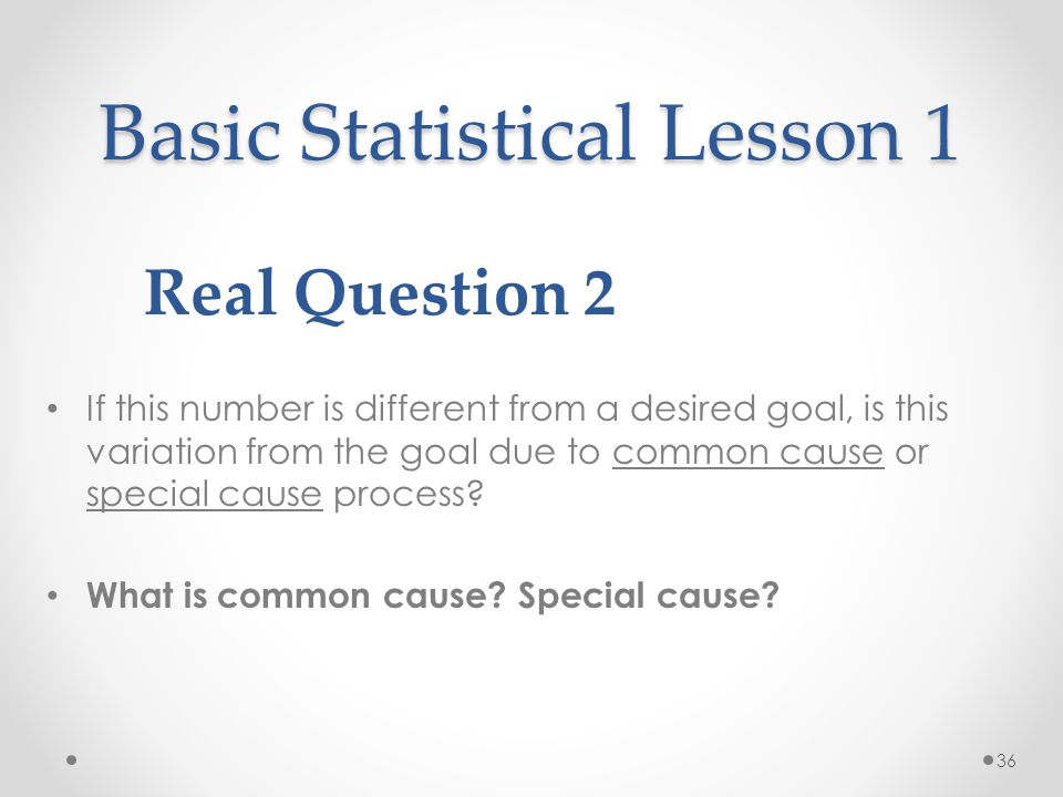 Basic Statistical Lesson 1