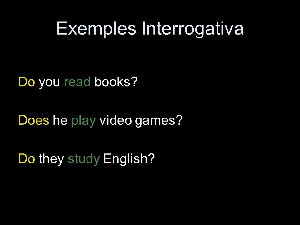 Exemples Interrogativa