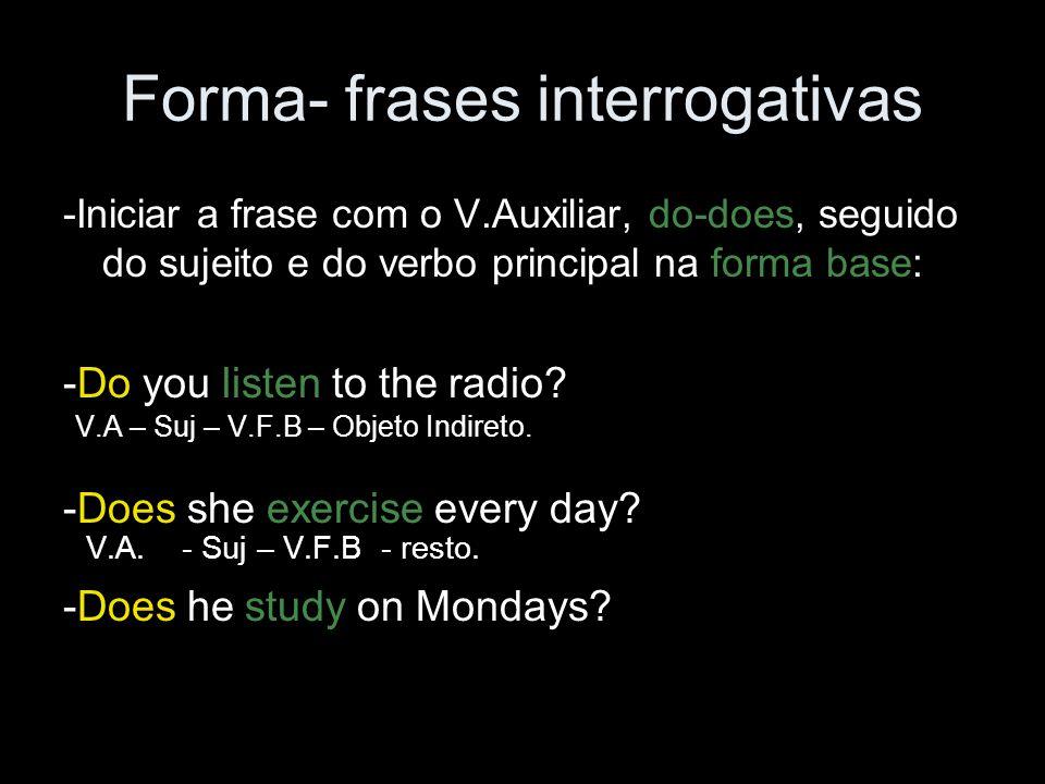 Forma- frases interrogativas