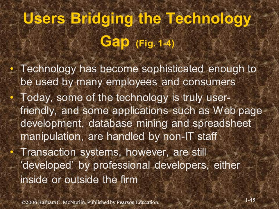Users Bridging the Technology Gap (Fig. 1-4)
