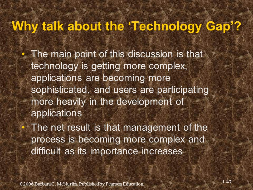 Why talk about the 'Technology Gap'
