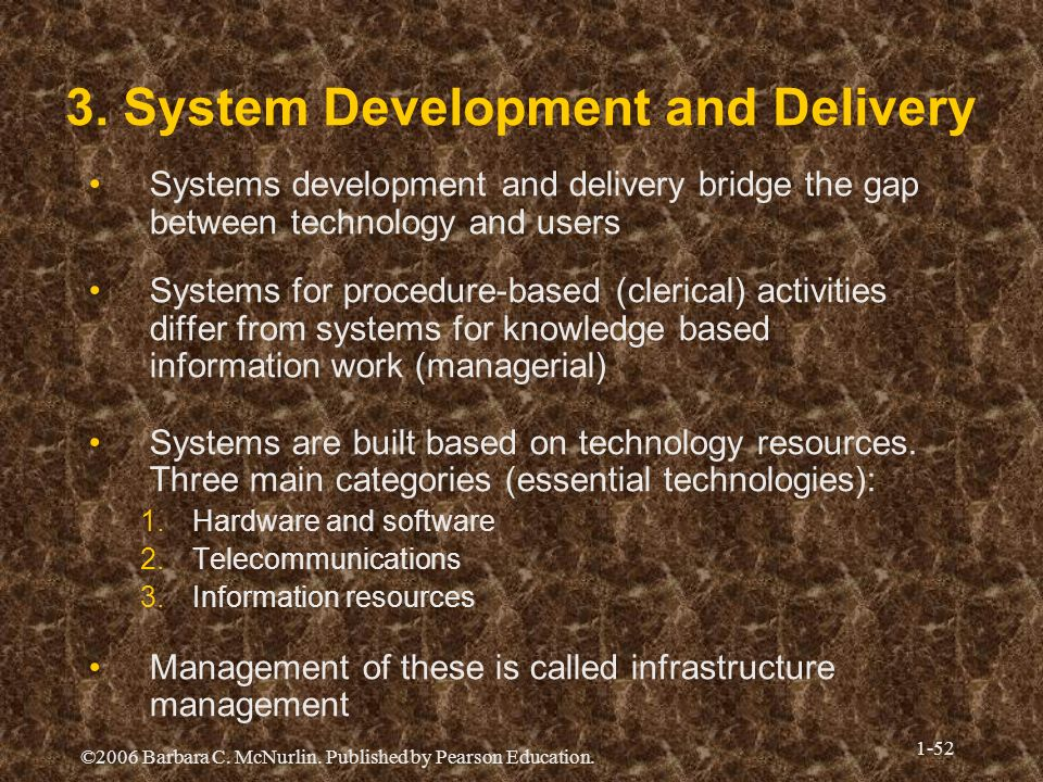 3. System Development and Delivery