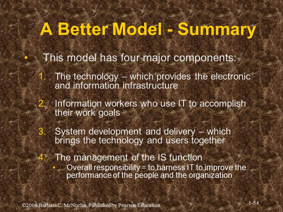 A Better Model - Summary