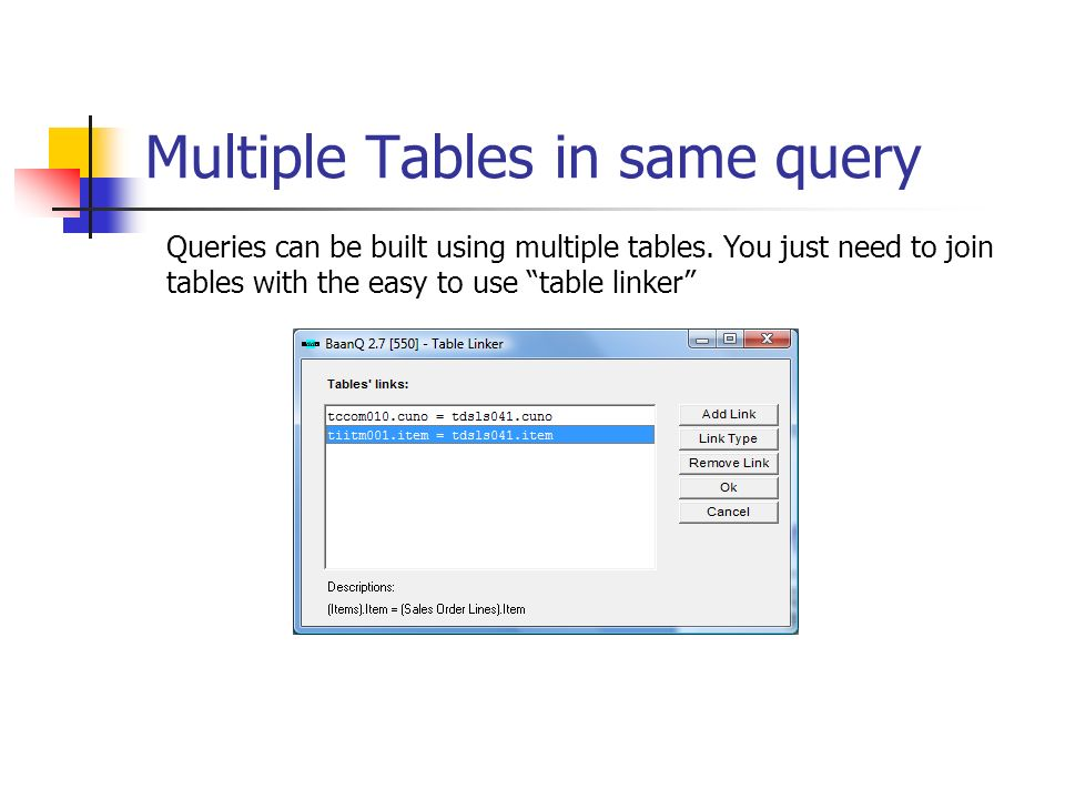 Multiple Tables in same query
