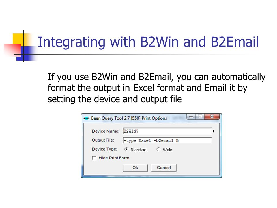 Integrating with B2Win and B2