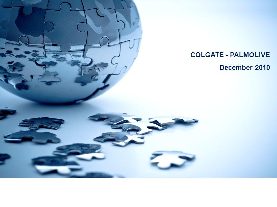 COLGATE - PALMOLIVE December 2010