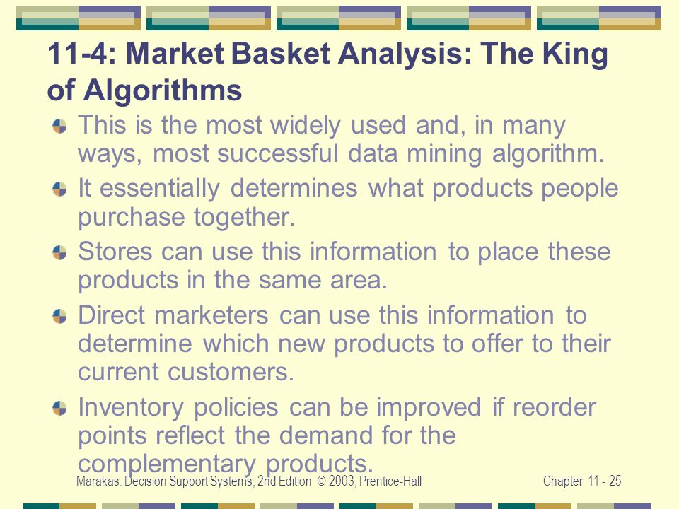 11-4: Market Basket Analysis: The King of Algorithms