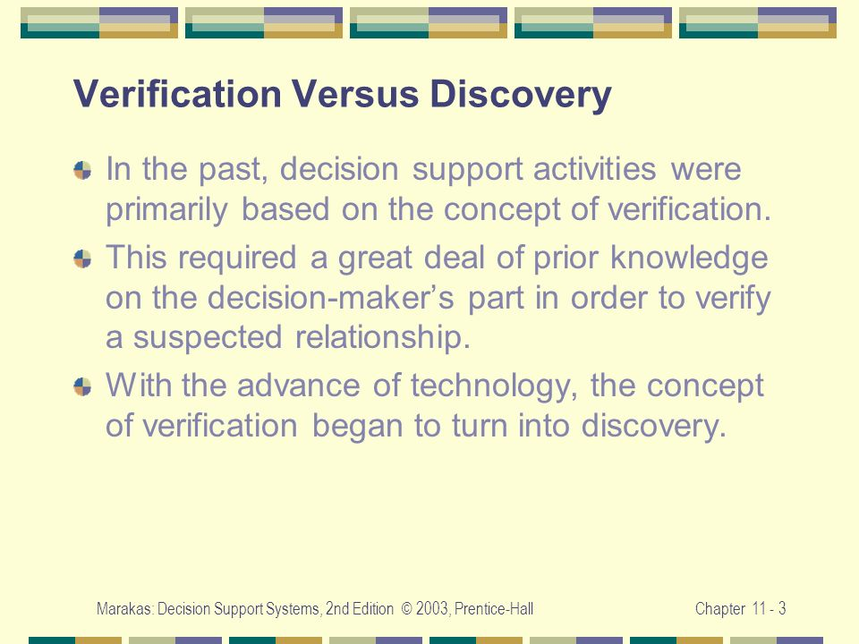 Verification Versus Discovery